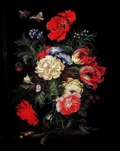 Набор для вышивания Букет с горошком, Риолис 100/015 купить в санкт петербурге Шале, (Zweigart) 14, Счетный крест.