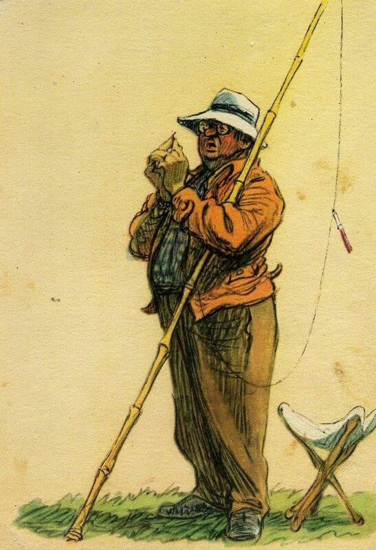 Картины открытки о рыбалке 96