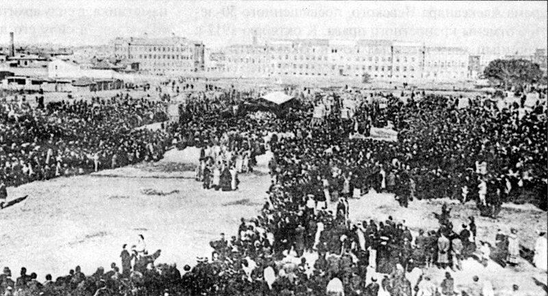 Закладка собора Св.Александра Невского на Миусах. 1904 г.