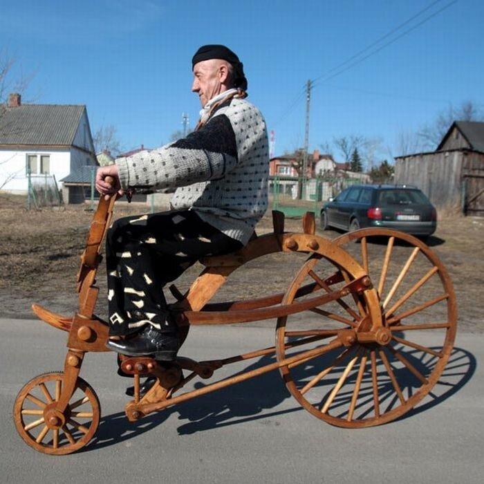 Когда водопроводчику скучно, он делает деревянные велосипеды 0_8a3c2_fb2a9bab_XL