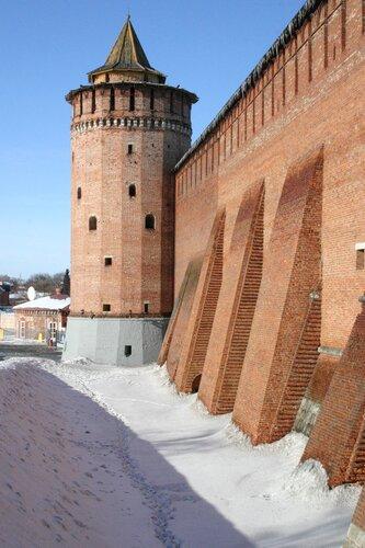 Крепостная стена. Вид на север.