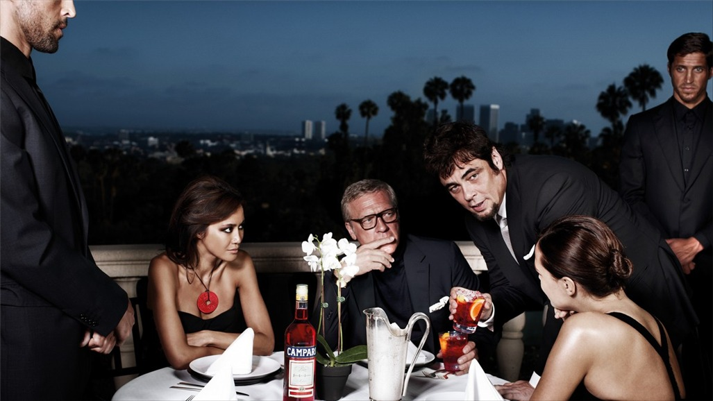 Бенисио дель Торо / Campari The Red Affair 2011 calendar - Benicio del Toro by Michel Compte - май