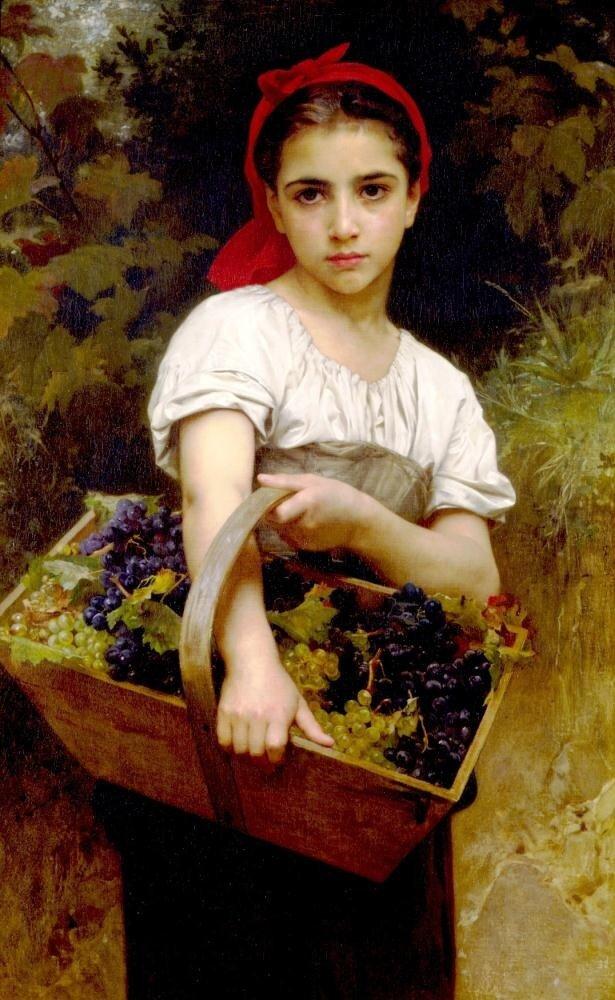 Бугеро, Сборщица винограда.1875 г.