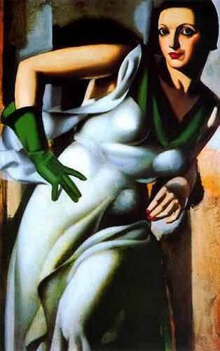 Лемпицка, Тамара, Женщина с зелёной перчаткой. 1928, http://veniamin1.livejournal.com/profile