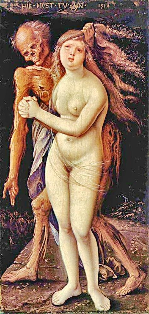 Бальдунг, Cмерть и девушка.1517г. (Der Tod und die Wollust) http://veniamin1.livejournal.com/profile