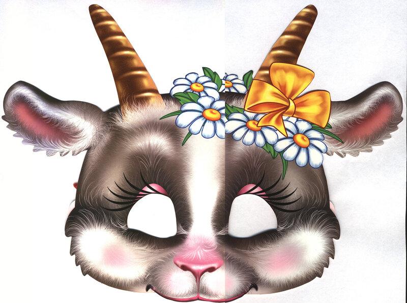 Сделать маску козы своими руками