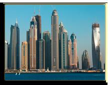ОАЭ. Дубаи. Dubai Marina cityscape, UAE. Фото Fatseyeva - shutterstock