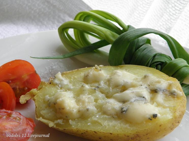 печёная картошка с блю чизом