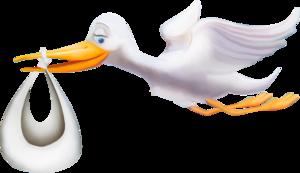 аисты с ребенком