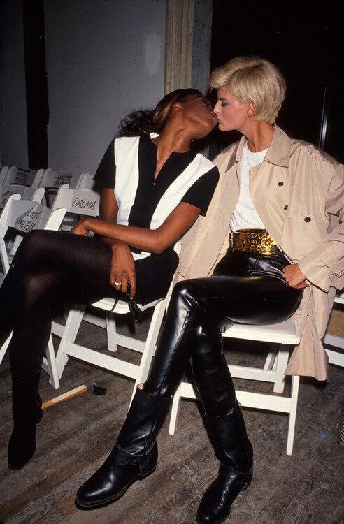 Naomi Campbell;Linda Evangelista
