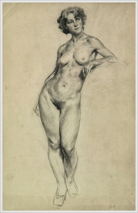 Обнажённая натура, 1940 г. | Nude model, 1940