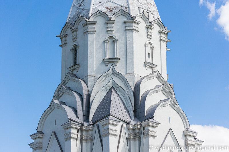 Коломенское. Храм Вознесения Господня. Тест объектива Sony E 55-210mm. Фокусное 55 мм.