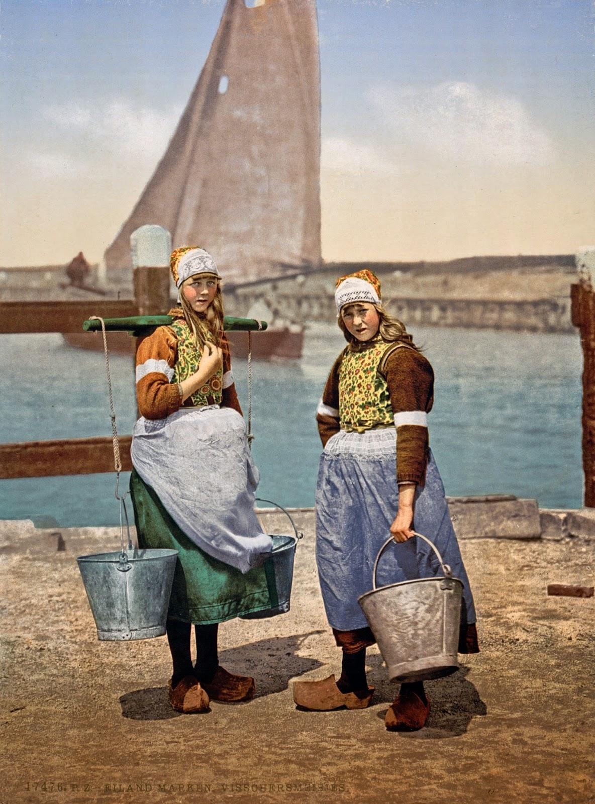 Native girls, Marken Island, Holland, ca. 1890-1900.jpg