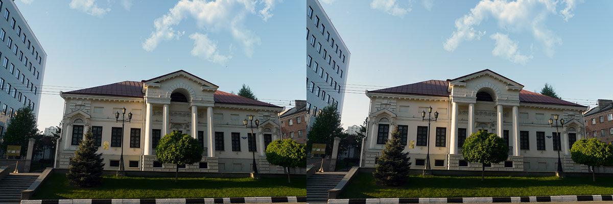 стереопара Дом купца Селиванова. Белгород, 2012, фото Sanchess