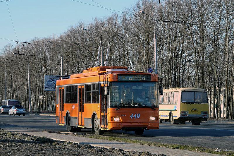первый выход на линию троллейбуса с новой для Белгорода системой ТРСУ. Фото Sanchess, 2011.