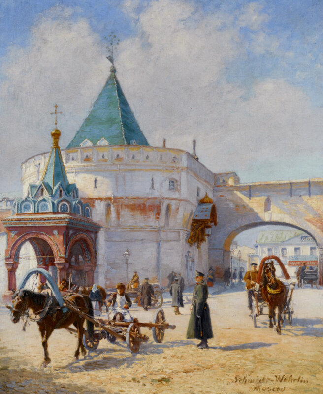 Шмидт-Верлин Эмиль (Schmidt Wehrlin Emile). Москва. Варварские ворота
