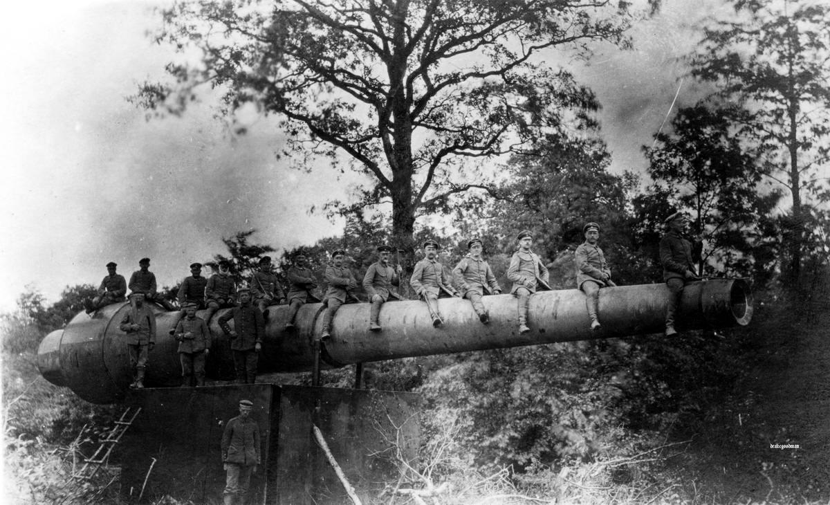 Самодельный муляж пушки береговой батареи (1915 год)