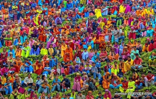 Фестиваль Красок Холи в Индии в 2009 году (Holi, Festival of Colours)