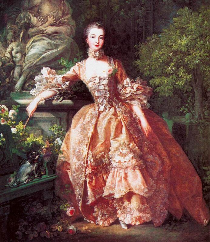 Женское платье 17 века