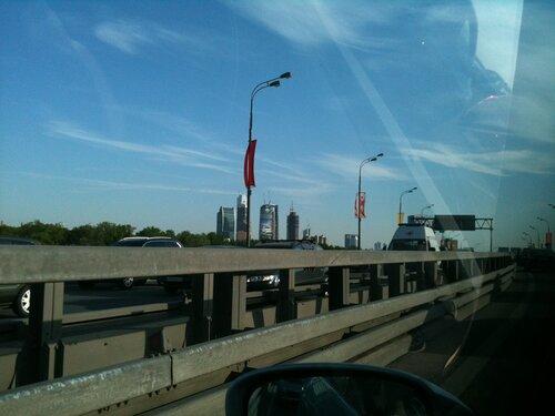 Вид на Сити с ТТК в районе Звенигородского шоссе