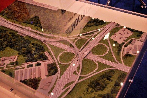 Макет развязки МКАД и Новорижского шоссе