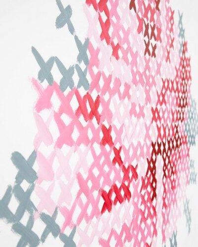 Роспись стен имитация вышивки крестиком