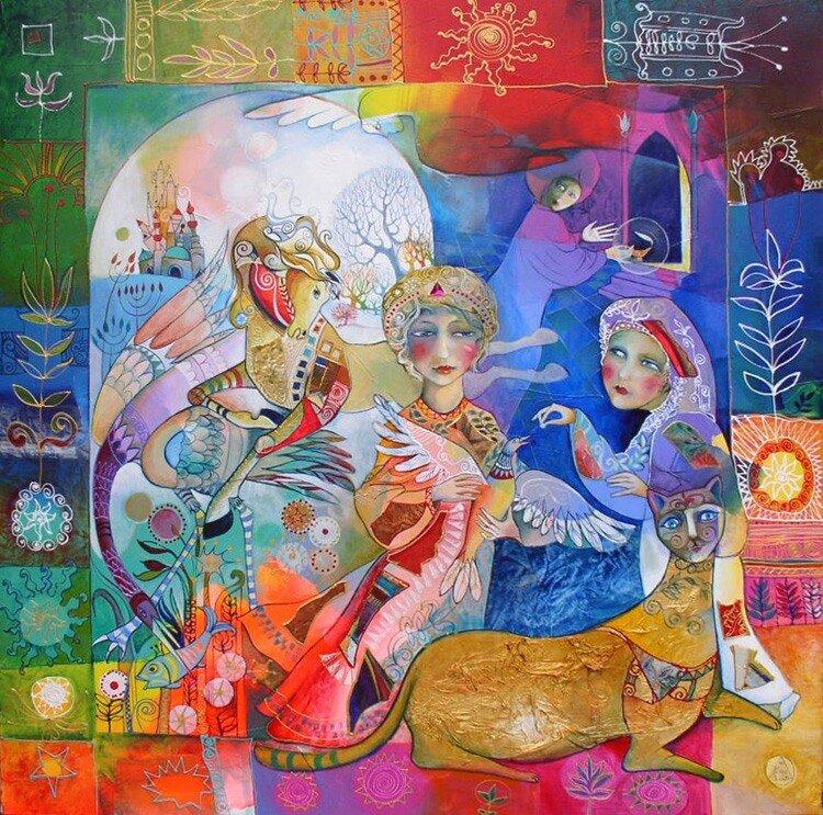 сказочное картины разных художников
