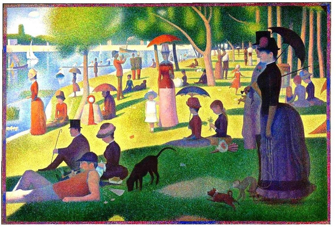Sunday Afternoon on the Island of La Grande Jatte (1884–1886) by Georges Seurat,  Art Institute of Chicago
