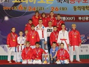 Каратисты Находки вернулись из Кореи с победой