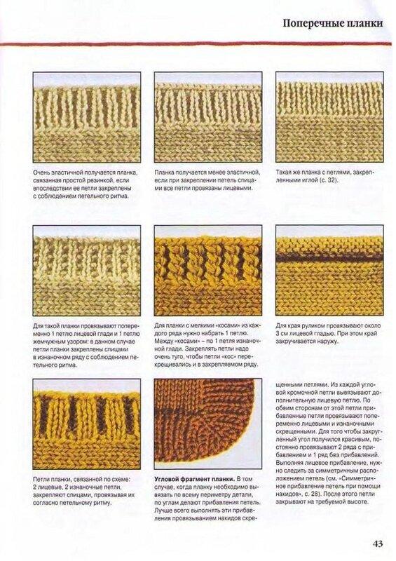 Как закруглить вязание на спицах