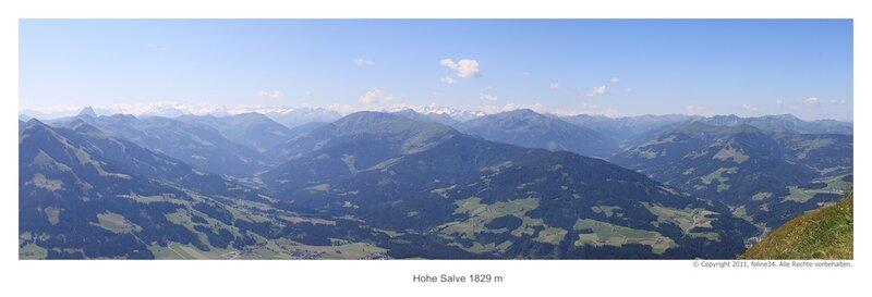 Панорама Hohe Salve 1829 m