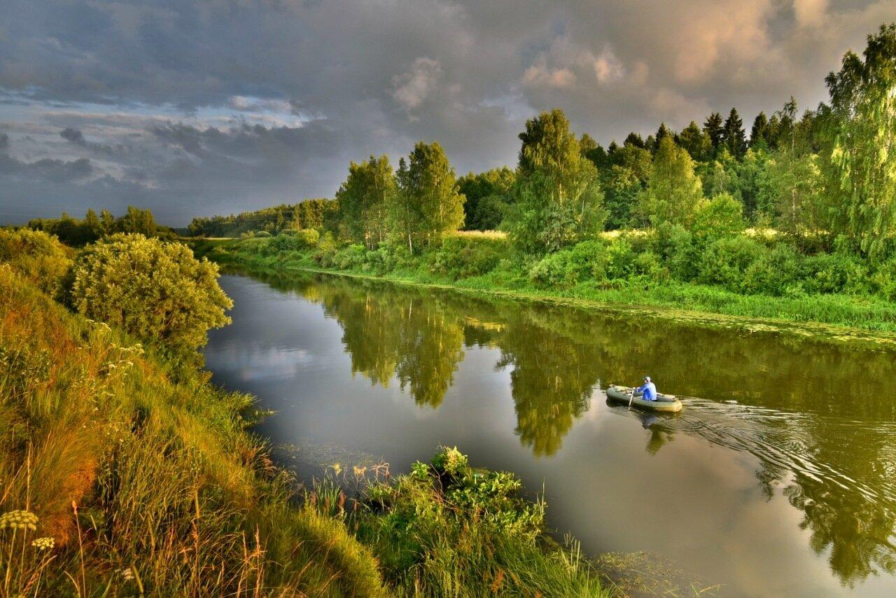 На вечернюю рыбалку...