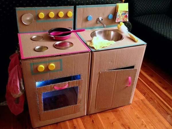 Как из картона сделать детскую мебель