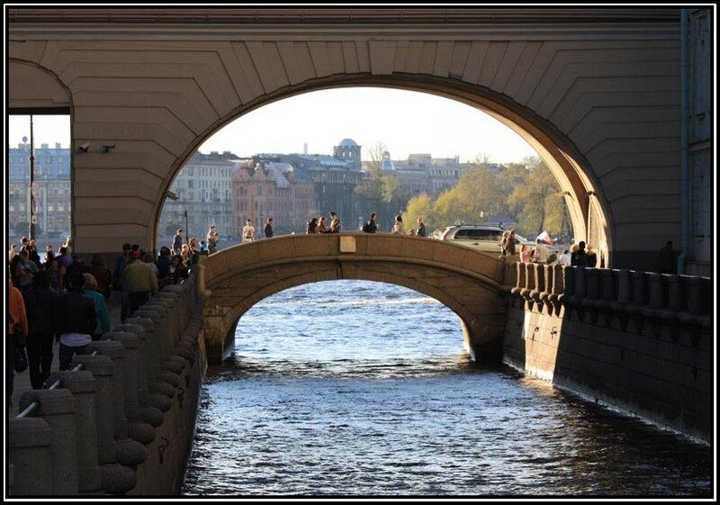 Мост вид с 1 ого зимнего моста