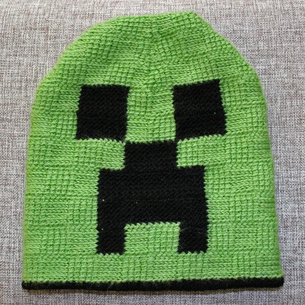 вязаные шапки майнкрафт крючком схемы #2