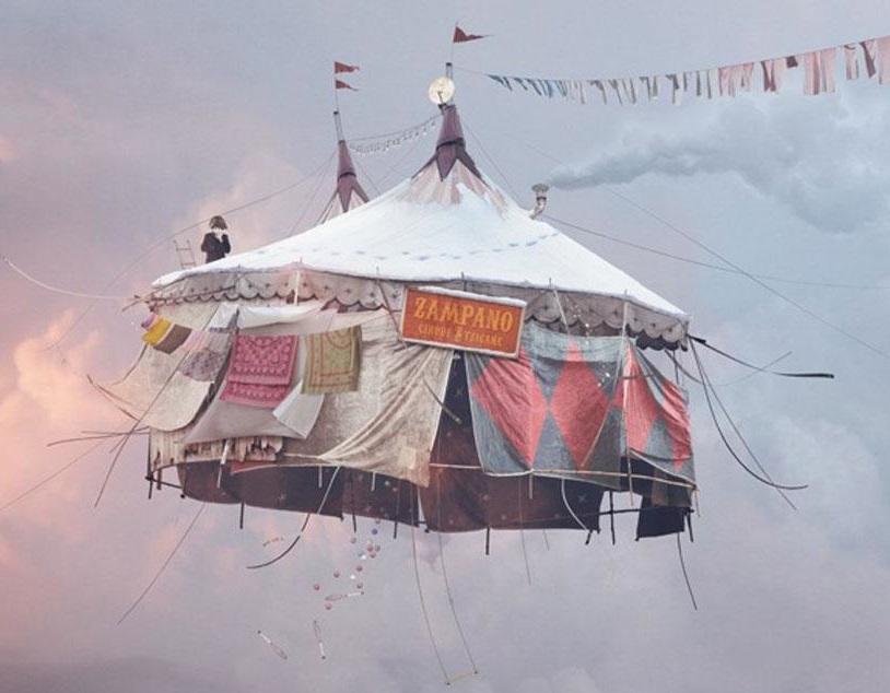 Как Лоран Шээр делает свои «летающие дома» на фотографиях