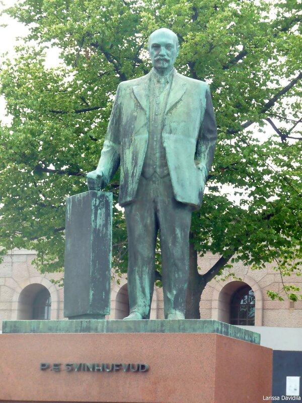 Памятник третьему президенту Финляндии.