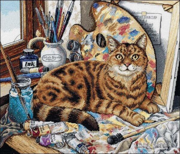 Кот-художник