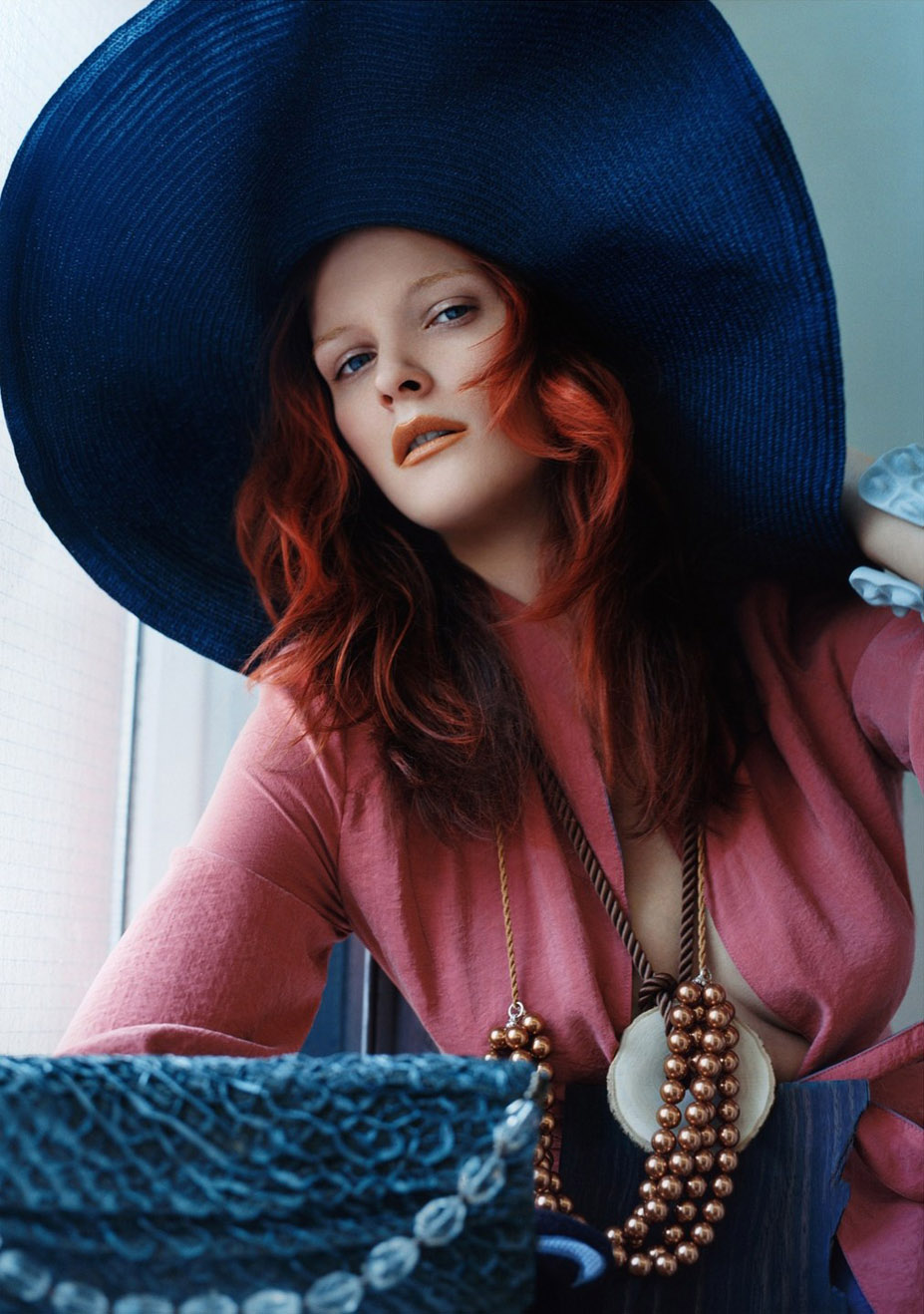 Кармен Касс / Carmen Kass by Solve Sundsbo - Harper's Bazaar april 2005