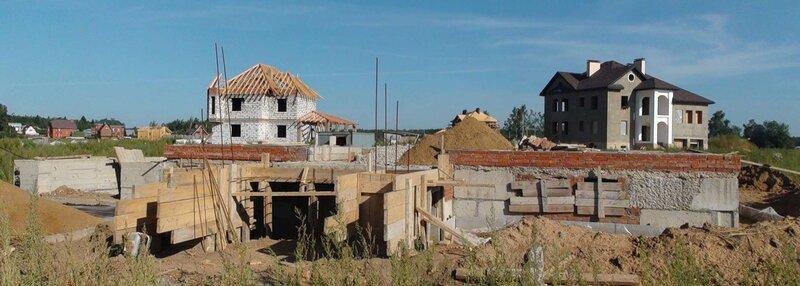 Строительство коттеджей в поселке Новорижский