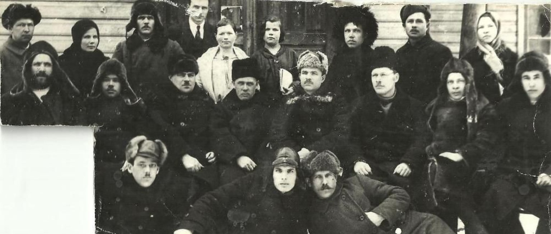 1925. Онежская делегация на съезде в Архангельске