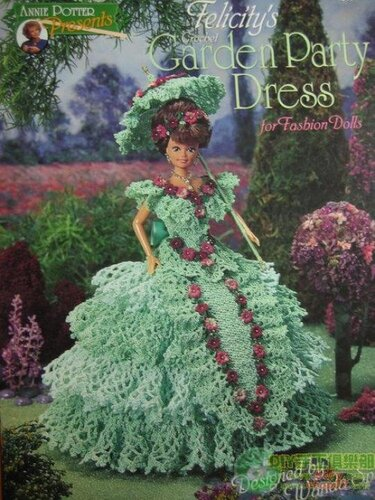 схема вязания зеленого платья для барби ч.1.