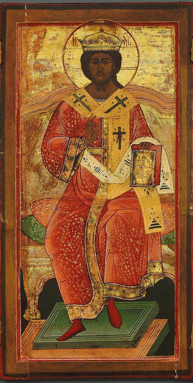 Спас Великий Архиерей (Христос на троне).  ДЕИСУС. (фрагмент)