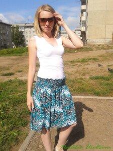 юбка-вискоза+резиновая жилка