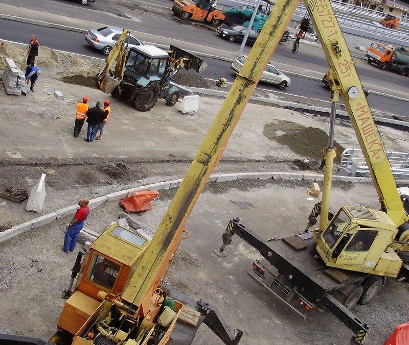 Строительство развязки у ст.м. ''Днепр'' - 21.08.2011