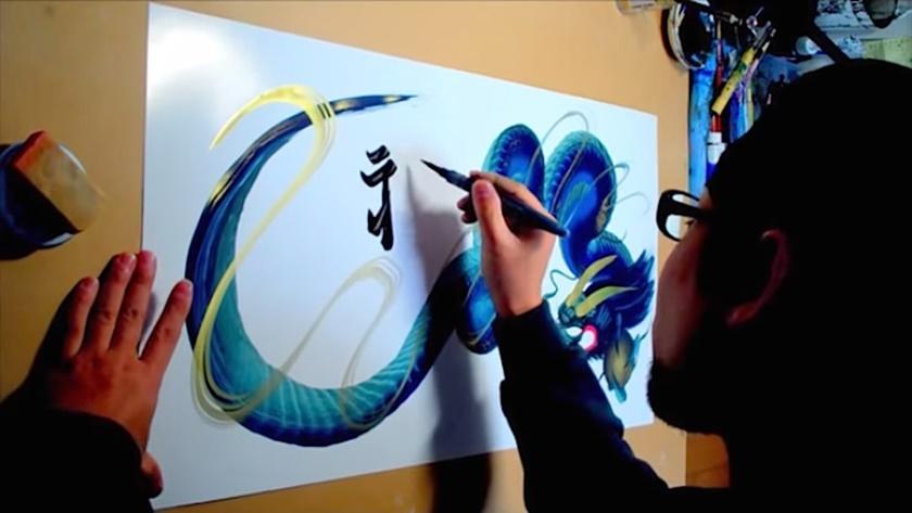 Художник рисует дракона, не отрывая кисти от бумаги 0 1424b8 83fdf392 orig