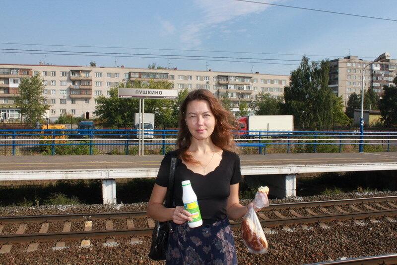 Утренний завтрак на платформе Пушкино в г.Дзержинске