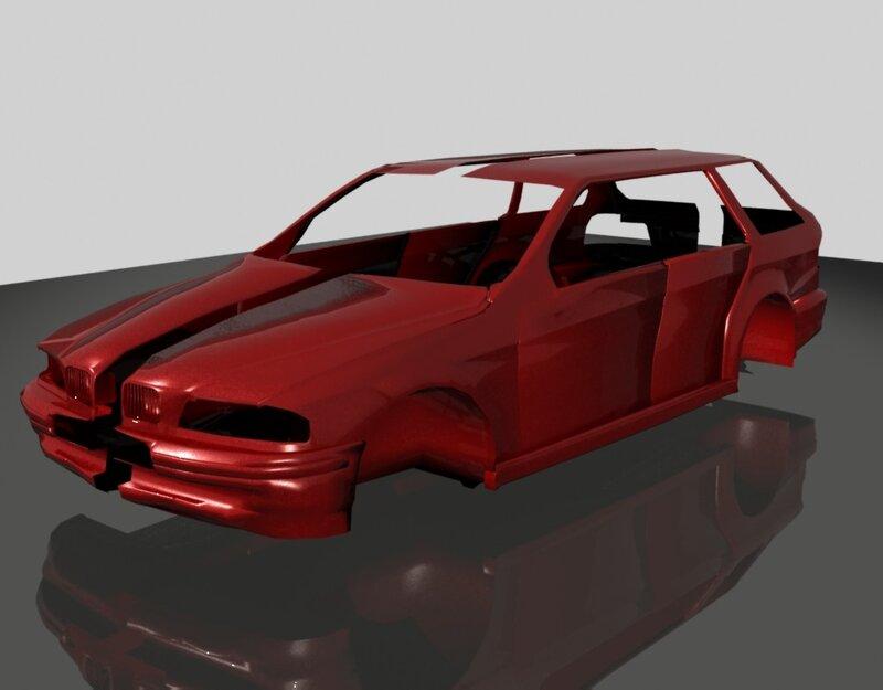 автомобильный корпус BMW 5 Series touring