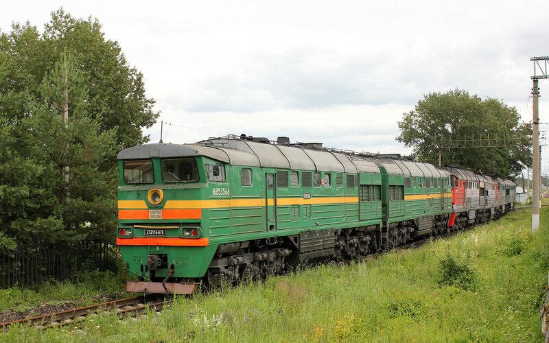 2ТЭ116-678 на ПТОЛ станции Волоколамск
