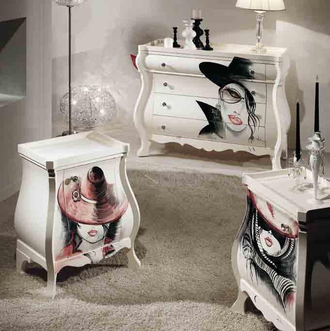 RM Arredamenti Capriccio White - продолжение уникальной коллекции мебели. Слияние классики и современности